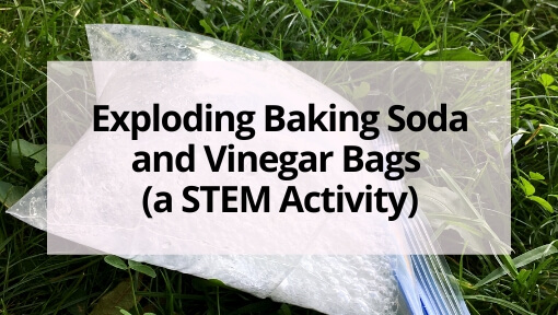 Exploding Baking Soda and Vinegar Bags (a STEM Activity)