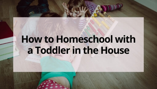 How to Homeschool with a Toddler in the House- 5 Simple Tips!