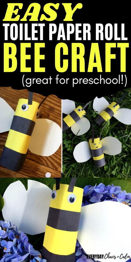 easy toilet paper roll bee craft