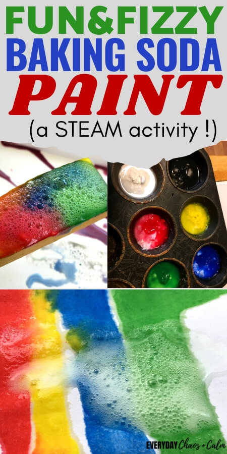 fun and fizzy baking soda paint STEAM activity