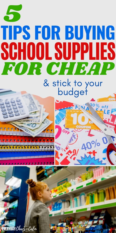 5 tips for buying school supplies for cheap and stick to your budget