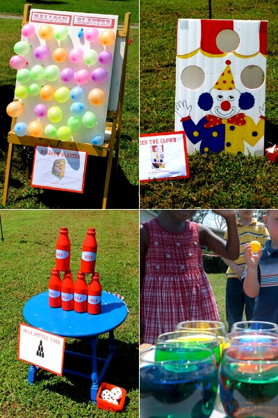 diy carnival games for a kids birthday party