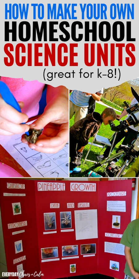 how to make your own homeschool science units