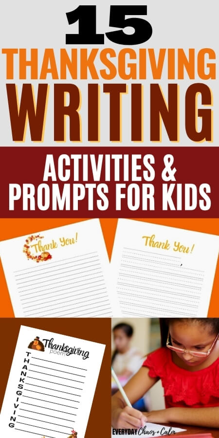 15 thanksgiving writing activities and prompts for kids